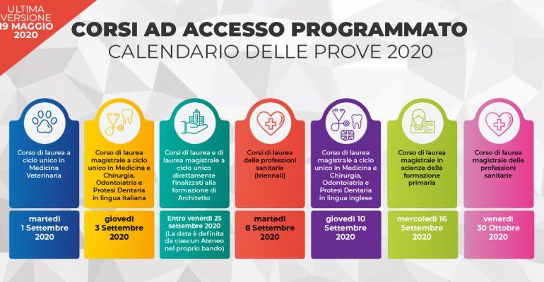TEST PER I CORSI AD ACCESSO PROGRAMMATO 2020/2021: MODIFICA DELLE