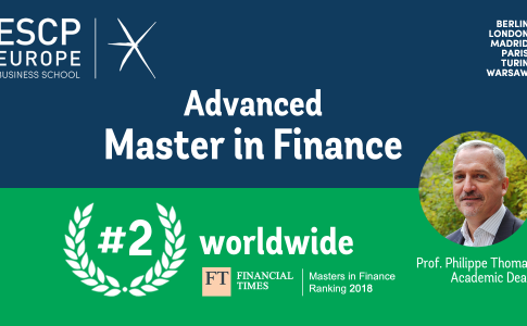 Master in Finance di ESCP Europe al 2° posto nel ranking del Financial Times
