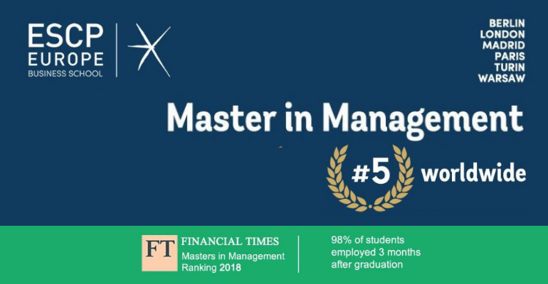The Master In Management Of Escp Europe Ranks First In Italy