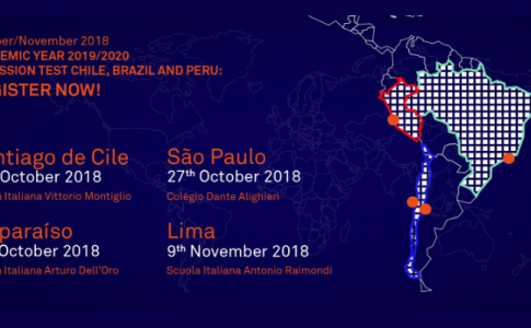 Test di ammissione per l'a.a. 2019/20 in Cile, Brasile e Perù