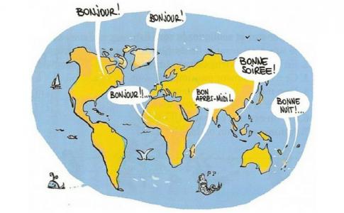 Francofonia: mappa del francese parlato nel mondo